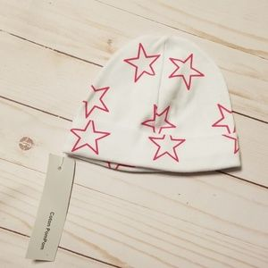 Coton Pom Pom Hot pink star baby hat